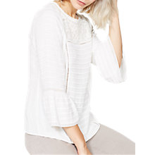 Buy Mint Velvet Embroidered Pintuck Blouse, Cream Online at johnlewis.com
