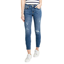 Buy Oasis Isabella Rip and Repair Jeans, Denim Online at johnlewis.com