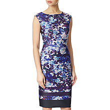 Buy Adrianna Papell Plus Size Ikat Floral Printed Shift Dress, Plum/Multi Online at johnlewis.com