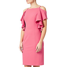 Buy Adrianna Papell Plus Size Flutter Cold Shoulder Sheath Dress, Desert Rose Online at johnlewis.com