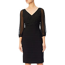 Buy Adrianna Papell Plus Size Ruffle Top Jersey Dress, Black Online at johnlewis.com