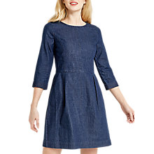 Buy Oasis Carrie Shift Dress, Denim Online at johnlewis.com