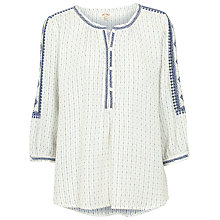 Buy Fat Face Jenny Stripe Popover, Ivory Online at johnlewis.com