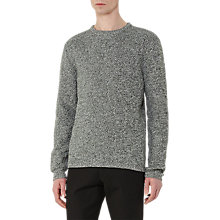 Buy Reiss Twister Multi Yarn Jumper, Green Online at johnlewis.com