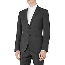Buy Reiss Mitre Wool Contrast Weave Modern Fit Suit Jacket, Charcoal Online at johnlewis.com