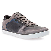 Buy Geox Box Trainers, Anthracite Online at johnlewis.com