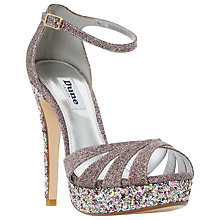 Buy Dune Mixi Stiletto Heeled Platform Sandals, Multi Online at johnlewis.com