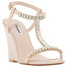 Buy Dune Maitai Embellished Wedge Heeled Sandals, Blush Online at johnlewis.com
