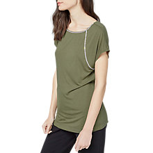 Buy Warehouse Raglan Diamante T-Shirt, Khaki Online at johnlewis.com