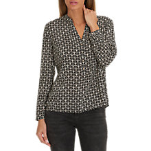 Buy Betty & Co. Printed Blouse, Black/Taupe Online at johnlewis.com