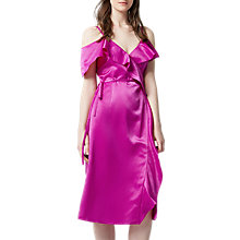 Buy Warehouse Frill Midi Dress Online at johnlewis.com