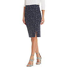 Buy Betty Barclay Graphic Print Pencil Skirt, Dark Blue/White Online at johnlewis.com