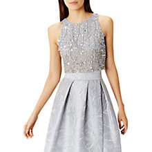 Buy Coast Sky Sequin Bridesmaid Top, Silver Online at johnlewis.com