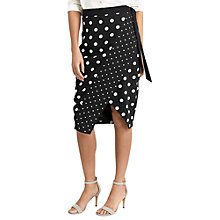Buy Oasis Spot Print Wrap Skirt, Multi Online at johnlewis.com