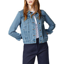 Buy Warehouse Short Denim Jacket, Light Wash Online at johnlewis.com