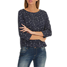 Buy Betty Barclay Graphic Print Top, Dark/Blue White Online at johnlewis.com
