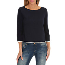 Buy Betty Barclay Double Faced Knit Jumper, Dark Sapphire Online at johnlewis.com