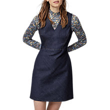 Buy Warehouse Seam Detail Denim Dress, Dark Wash Denim Online at johnlewis.com