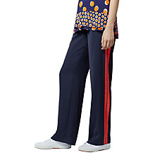 Buy Warehouse Stripe Side Trousers, Navy Online at johnlewis.com