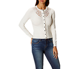Buy Karen Millen Lace Insert Cardigan, Ivory Online at johnlewis.com