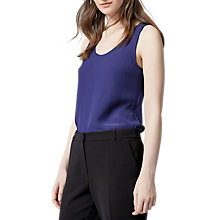 Buy Warehouse Woven Front Top, Navy Online at johnlewis.com