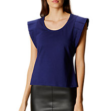 Buy Karen Millen Pleat Detail Jersey Top, Navy Online at johnlewis.com
