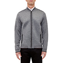Buy Ted Baker T for Tall Acett Jersey Bomber Jacket, Charcoal Online at johnlewis.com