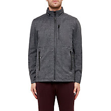 Buy Ted Baker Sporty Mouliné Windcheater Hooded Jacket, Charcoal Online at johnlewis.com