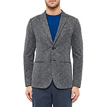 Buy Ted Baker Italy Textured Jersey Blazer, Navy Online at johnlewis.com
