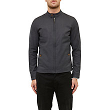 Buy Ted Baker Lynch Textured Cotton Jacket, Charcoal Online at johnlewis.com