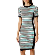 Buy Karen Millen Micro Textured Dress, Multi Online at johnlewis.com