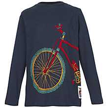 Buy Fat Face Boys' Long Sleeve Bicycle T-Shirt, Navy Online at johnlewis.com