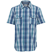 Buy Fat Face Boys' Short Sleeve Vinnie Check Shirt, Blue Online at johnlewis.com