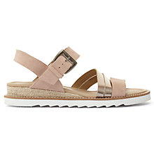 Buy Mint Velvet Leila Low Wedge Sandals, Light Pink Online at johnlewis.com