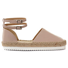 Buy Mint Velvet Raya Double Strap Espadrilles, Light Pink Online at johnlewis.com
