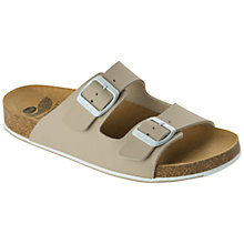 Buy Scholl Spikey 2 Mule Sandals, Beige/White Online at johnlewis.com