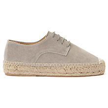 Buy Mint Velvet Liandra Lace Up Flatform Espadrilles, Grey Online at johnlewis.com
