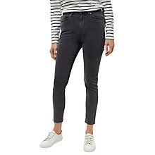 Buy Jaeger High Rise Skinny Jeans, Light Grey Online at johnlewis.com