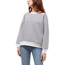 Buy Jaeger Sculpted Striped Sweatshirt, Ivory Online at johnlewis.com