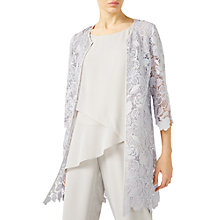 Buy Jacques Vert Floral Lace Shacket, Mid Grey Online at johnlewis.com