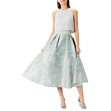 Buy Coast Rue Jacquard Skirt, Green Online at johnlewis.com