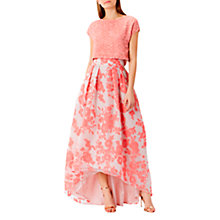Buy Coast Bliss Embellished Cap Sleeve Top, Coral Online at johnlewis.com
