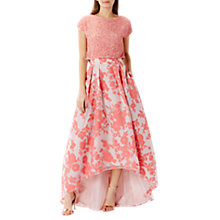 Buy Coast Bliss Burnout Floral Skirt, Blush Online at johnlewis.com