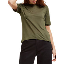 Buy Jaeger Curved Hem Crew Neck T-Shirt Online at johnlewis.com
