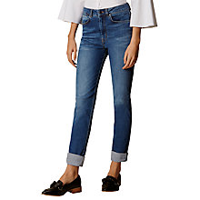 Buy Karen Millen Eyelet Turn-Up Hem Jeans, Denim Online at johnlewis.com