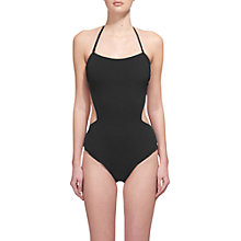 Buy Whistles Rio Cut Out Swimsuit, Black Online at johnlewis.com