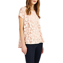 Buy Phase Eight Becky Burnout Top, Pink Online at johnlewis.com