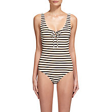 Buy Whistles Stripe San Diego Swimsuit, Multicolour Online at johnlewis.com