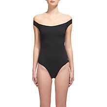 Buy Whistles Ipanema Bardot Swimsuit, Black Online at johnlewis.com