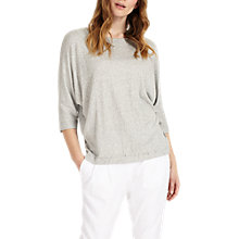Buy Phase Eight Gilly Gathered Top, Grey Online at johnlewis.com